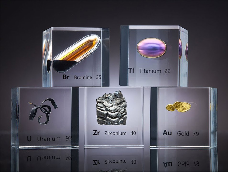 Luciteria Collects Elements from the Periodic Table at werd.com