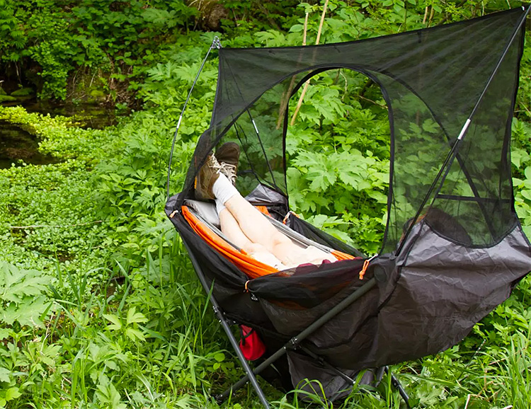 This Folding Hammock Sets Up Anywhere at werd.com